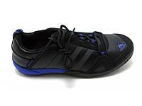 Кроссовки мужские Adidas daroga черно-синие (кожа )