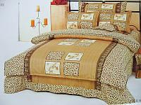Постельное белье полуторное Леопард, бязь (хлопок 100%)