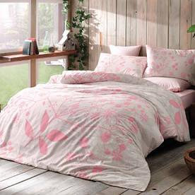 Постельное белье Tac Bambu cotton Relax pembe евро размера