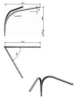 Оголовник W16 1/2/1,5 (60)  для монтажа светильников на оцинкованных опорах