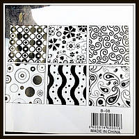 Текстурные листы Весёлые мотивы 25,3*17,7 см (6 шт), фото 1