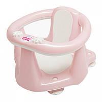 Детское сиденье для ванной Baby Ok Flipper Evolution с нескользким покрытием и термодатчиком, нежно-розовое (37990035/54)