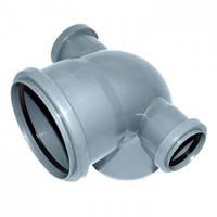 Колено сложное 110/50/50/90 для внутренней канализации