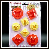 """Наборе каттеров для сердцевины печенья """"Мишка, Зайчик, Сердечко, Звёздочка"""", фото 1"""