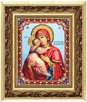 Набор для вышивания бисером Икона Божьей Матери Владимирская Б-1178