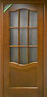 """Дверь межкомнатная ТМ""""Терминус"""" Модель 07 каштан под стекло"""