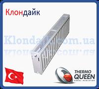 Стальной радиатор боковое подключение 22К*300*1100 THERMOQUEEN