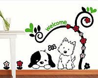 Наклейка виниловая Welcome 3D декор