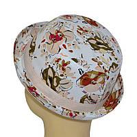 Шляпа детская котелок Индия персик