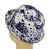 Шляпа детская котелок ромашка синяя
