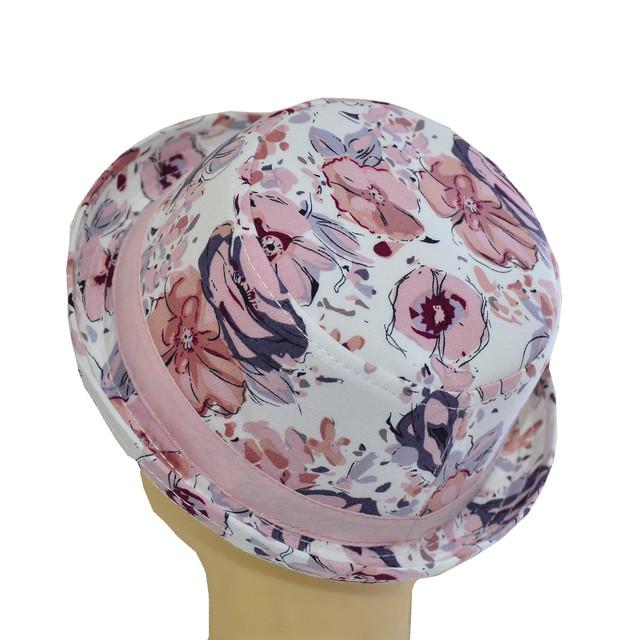 Шляпа котелок мини индия розовая
