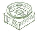 Рама нижняя (станина) на ЭКГ-5 чертеж 1080.27.00СБ(запчасти к экскаваторам ЭКГ-4,6, ЭКГ-5, ЭКГ-5А)