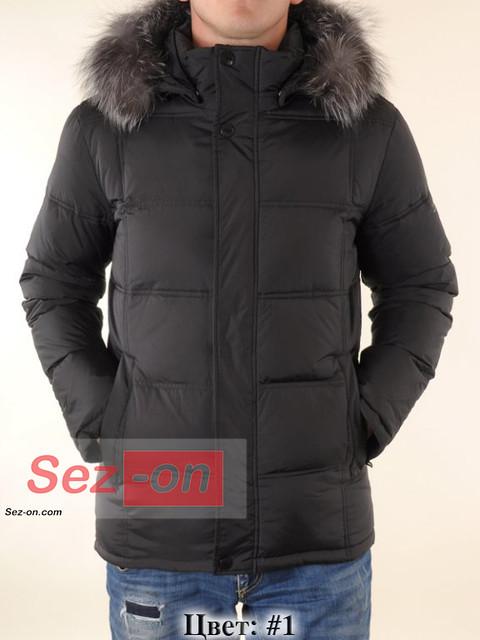 Пуховик мужской зимний с мехом Malidinu M-11633 Черный #1
