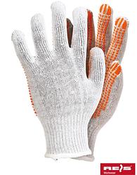Перчатки рабочие, защитные с резиновыми точками, ПВХ белые RDZN-FLEXIFLUO. Цена за 300 шт.