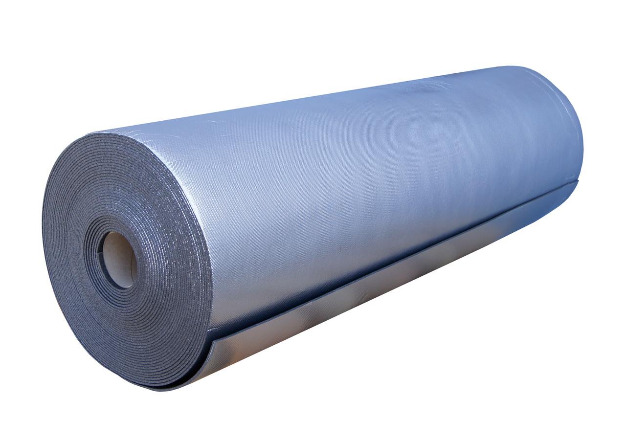 Пенополиэтилен Polifoam3  мм ламинированный металлизированной пленкой BOPP (3003/BOPP 1,1х50м рулон 55 кв.м)