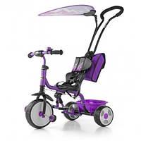 3-х колесный велосипед Milly Mally Boby Deluxe 2015 с подножкой (violet)