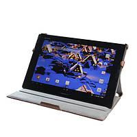 Конверируемый коричневый чехол на Sony Xperia Tablet Z из синтетической кожи., фото 1