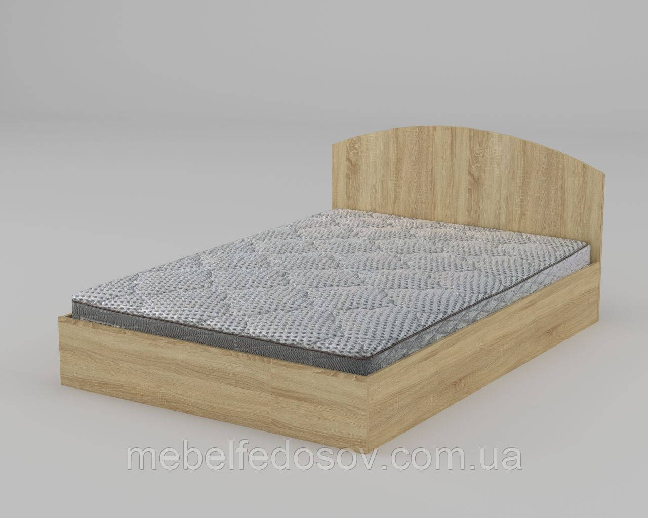 Кровать-140 полуторная ДСП (Компанит) 1444х2042х300/750мм
