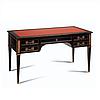 Письменный стол с кожей 150х75 Н.81 - консоль