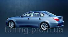 Хром накладки на дверные стойки  BMW 5 серии 2004-2010