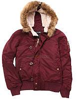 Оригинальная женская куртка Sarah Alpha Industries (бордовая)