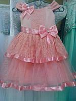 """Нарядное детское платье """"Милашка"""" (пудра) на 2-4 года"""