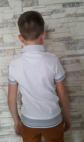 Белая рубашка-обманка на мальчиков 116,122,128,134 роста Vhite, фото 2