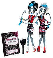 Monster High Набор кукол Мяулодия и Мурсефона из серии Танцы Зомби