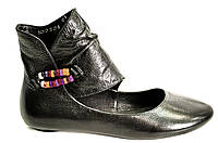 Туфли женские из натуральной кожи без каблука
