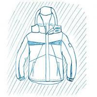 Покраска куртки из комбинированной ткани