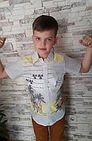 Модная рубашка с короткими рукавами для мальчиков Beach