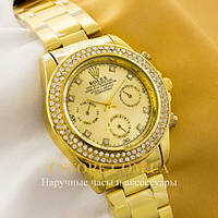 Наручные женские часы ШвейцарскиеRolex Cosmograph Daytona gold gold (05527)