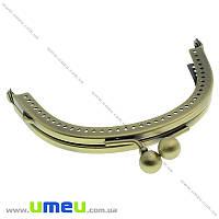 Фермуар металлический, Античная бронза, 8,5х7 см, 1 шт (BAG-004126)