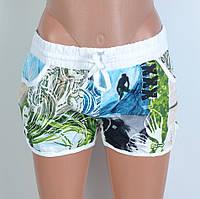 Жіночі пляжні шорти на зав'язках