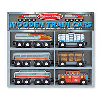 Поезд на магнитах Melissa & Doug Wooden Train Cars Set 6 вагонов