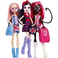 Monster High Ghoulebrities in Londoom Поездка в Лондум Монстро-знаменитости (Элизабет, Кэтти Нуар и Вайперин Горгон)