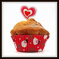 Бумажные формы (тарталетки) для выпечки кексов с украшением, фото 1