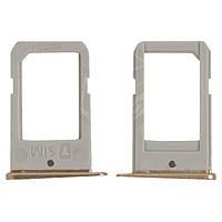 Держатель SIM-карты для Samsung G925F Galaxy S6 EDGE, оригинал (золотистый)