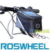 Велосипедная сумка на раму для смартфона Roswheel S Синяя полоска