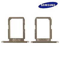 Держатель SIM-карты для Samsung Galaxy S6 G920F, золотистый, оригинал