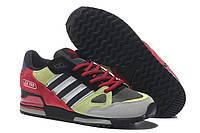 Кроссовки мужские Adidas ZX750 Yellow Red серо-красные беговые