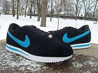 Кроссовки мужские Nike Cortez черные (размеры 42-46)