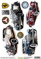 Декупажная карта 42 Старые машины 60 г/м2, А4, 210Х290 мм