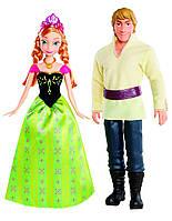 Disney Frozen Анна и Кристофф Замороженные  Anna and Kristoff Doll, 2-Pack, фото 1