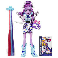 My Little Pony Equestria Girls девочки эквестрии Искорка радужный рок Rainbow Rocks Twilight Sparkle Rockin' Hairstyle Doll, фото 1