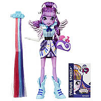My Little Pony Equestria Girls девочки эквестрии Искорка радужный рок Rainbow Rocks Twilight Sparkle Rockin' Hairstyle Doll