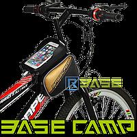 Велосипедная двухсторонняя сумка на раму для смартфона BaseCamp S Оранжевая