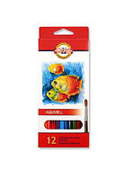 Koh-I-Nor Акварельные цветные карандаши Mondeluz Рыбки, фото 1