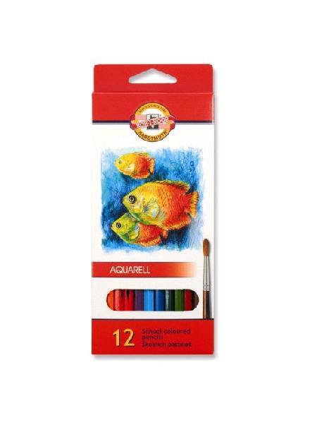 Koh-I-Nor Акварельные цветные карандаши Mondeluz Рыбки