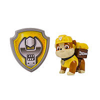 Paw Patrol щенячий патруль Крепыш Action Pack Pup & Badge - Rubble